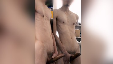 Quick Wank by the Mirror, Cockring, Nipple Play, HFO