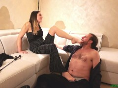 Foot Domination Luisa Casati Seduce Gabriel Galli Padrona Italiana Schiavo Dialoghi Italiano Femdom