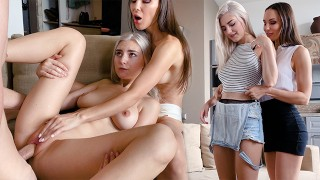 Mom teaches her shy step-daughter how to fuck – Eva Elfie