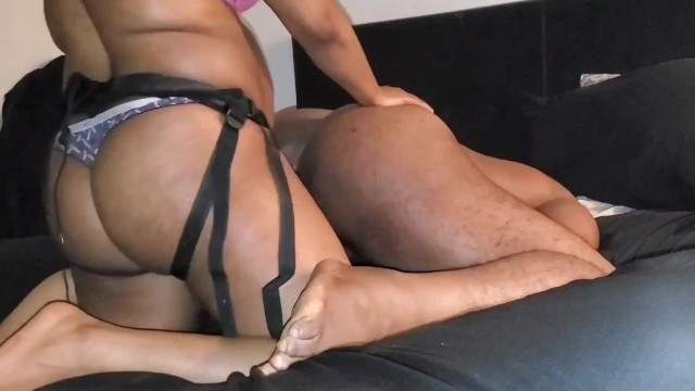 Fat hairy old men Hot ebony stretching his hairy black hole with my fat lady cock