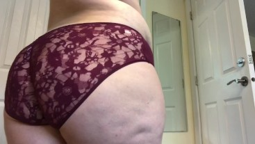 Trying On Old Panties