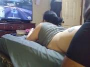 Distracting gamer girl Angirose amateur interracial Italian milf creampie