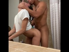 Bathroom threesome with Cadence Lux and Ricky Johnson