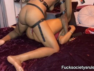 Squirt from strap on penetration PT 2