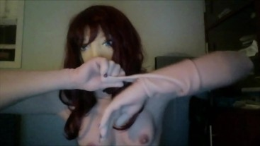 Angel's Night Pt4! After playing around in my hands and female gloves i remove my female hand gloves
