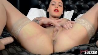 Roselyne Simone busty pornstar's solo – Full Scene