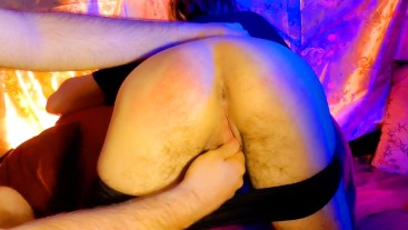 Young FTM Boy Gets His Ass Spanked and Stretched By Daddy