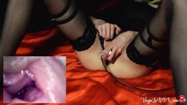 Babe Sensual Masturbate Pussy Endoscope Camera - Female Orgasm