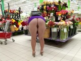 compilation public upskirt and downblouse in store