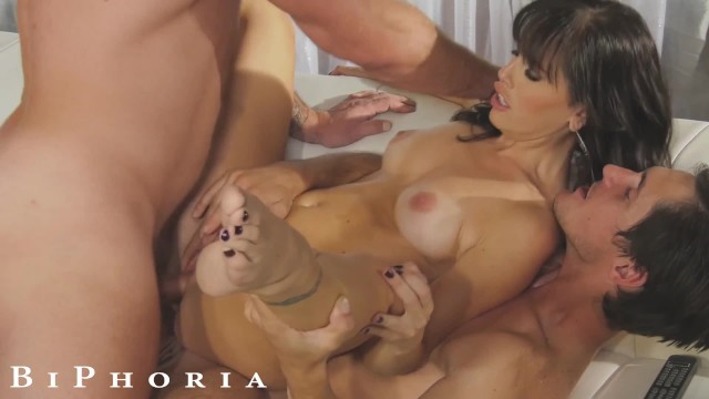 Free fuck centerfold Biphoria - landlord fucks tenant for free rent...only if her husband joins