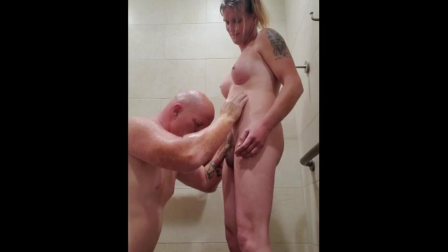 Tranny cum drinking Hubby drinks transwifes piss