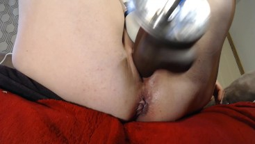 Creaming on a Huge Black Cock