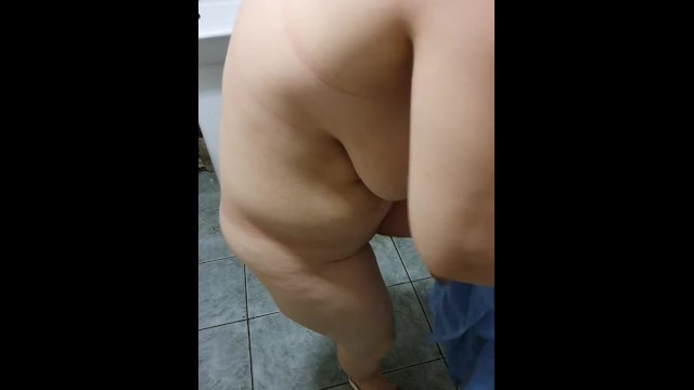 Deeply fucked Step mom fucked in the bathroom by step son with 12 inch of dick
