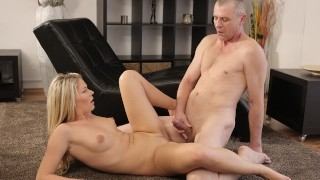 OLD4K Seductive model seduces older male for unforgettable sex