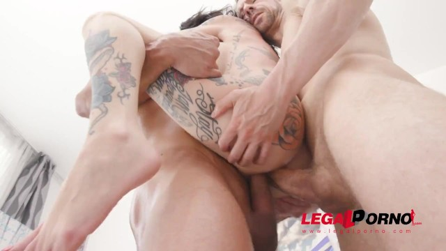 Double bass thumb position Megan inky hard anal fucking with 8 dap position. see the new scene on legal porno