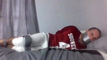 Taped up Football Player