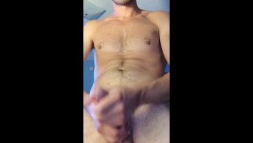 Huge Cumshot From My Thick Girthy Dick