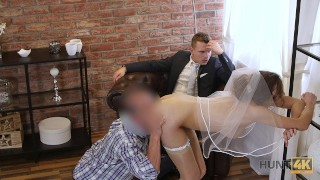 HUNT4K Rich man pays well to fuck hot young babe on her wedding day