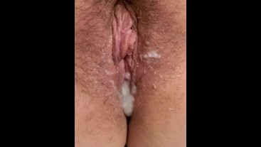 Creampied... Then I rubbed my clit til I Squirted