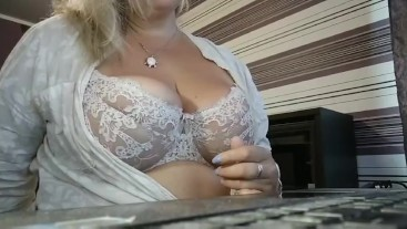 Chating with guys in sexy bra big boobs