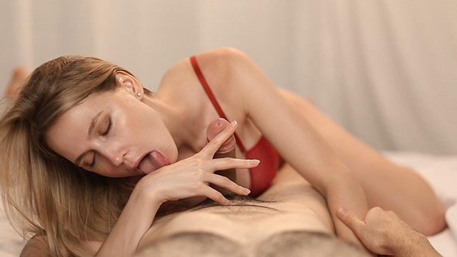 Mouth and vaginal foreplay Incredibly hot blowjob with massive cum in mouth full video