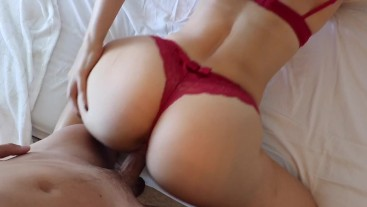 Horny Slut Rides Hard Dick and Gets Fucked from the Back