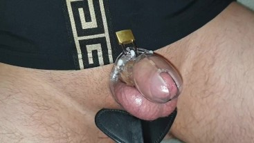 Coming home after sex date. sloppy seconds for slave...