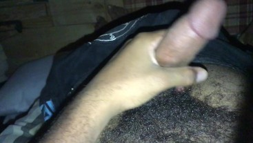 LATE NIGHT CABIN JERK OFF SESSION ROCK MERCURY STROKES HUGE COCK IN SAVAGE RANCH CABIN HAIRY BUSHED
