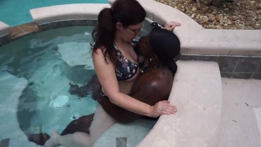 Slutty White Wife Vicki Verona Gets Pounded By the Pool by Her BBC Poolboy