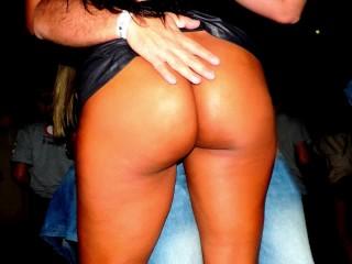 NAUGHTY WIFE TEASING ON NIGTH CLUB