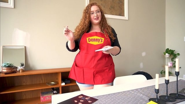 Gwen big boobs Busty milf dennys makes virgin scramble her eggs with doggystyle impregnation creampie