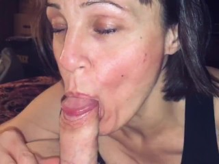 Mature Hot Wife love's husband to watch her suck off other men