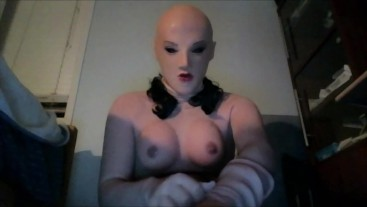 May and May Pt2! I put on my female hand gloves while double masked in female masks!