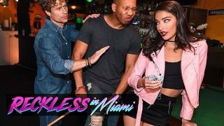 RecklessInMiami – Emily Willis Takes Michael Vegas & Ricky Johnson's Cocks
