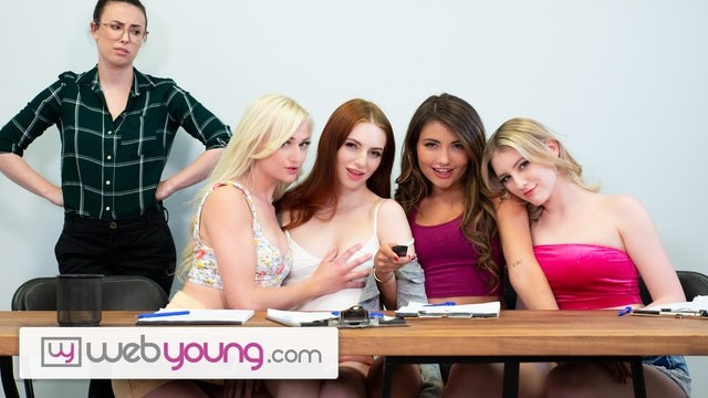 Red head wet pussy Webyoung lesbian focus group has a foursome wet result with melody marks