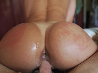 Perfect Ass Gets Oiled Up And Fucked (INTENSE ORGASM ) – Amateur Babe NoFAceGirl