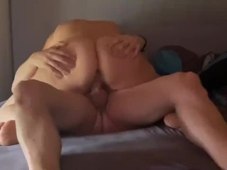 Milf is riding with perfect butt until cum shot