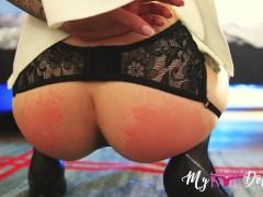 BDSM Sex slave training ( Spanked ass, Deepthroat, Gagging) MyKinkyDope