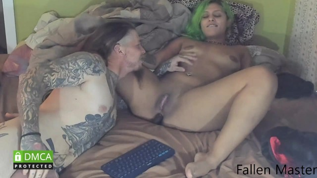 Electric cunt stimulation That slave cunt lickin my ass and then getting fucked hard one hour