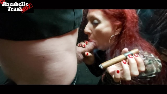 Girl cigar sex Messy red lips cigar and cigarette smoking blowjob - tribute to c.j.