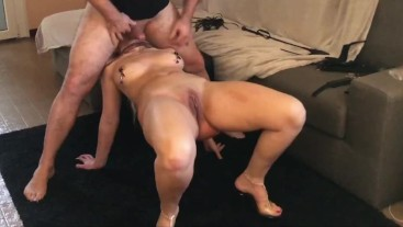 Acrobatic Reverse Blowjob Deep Throat BDSM - Sex And Heels