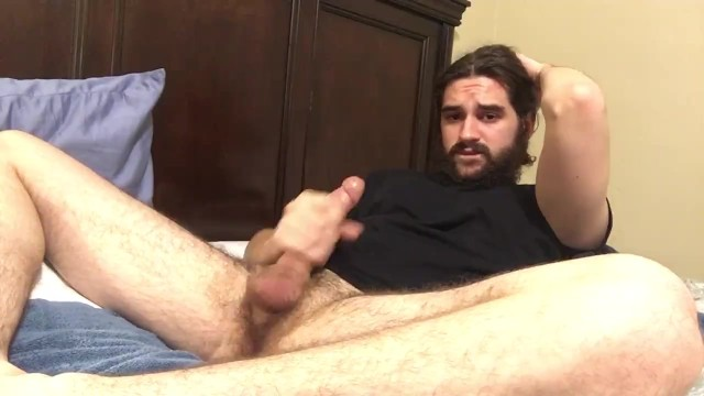 Lumber jack porn Hairy stud dirty talking edging with multiple cumshots