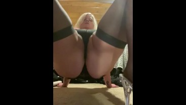 Bbw thrusting in crab position, should we fuck like this?