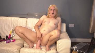 tight pussy rides monster dildo cock / Casey Jones