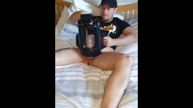 Uk gay male escorts Using fleshlight quickshot wank machine solo
