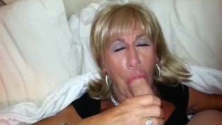 Pauline loves to suck mikes cock with sexy TGirl crossdresser Pauline.