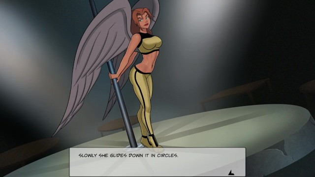 Superheroines fucked Something unlimited - part 27 - ladyhawk flying onto the stage
