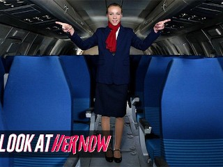 Look Ather Now – Sexy Air Stewardess Angel Emily, Been Anal Dominated By A Male Stud
