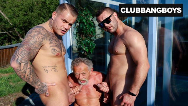 Club x gay Old mouth on two young cocks