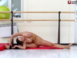 Brunette big tits gymnast Gondova